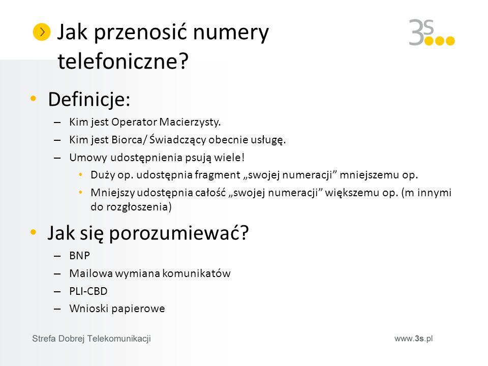 Jak przenosić numery telefoniczne