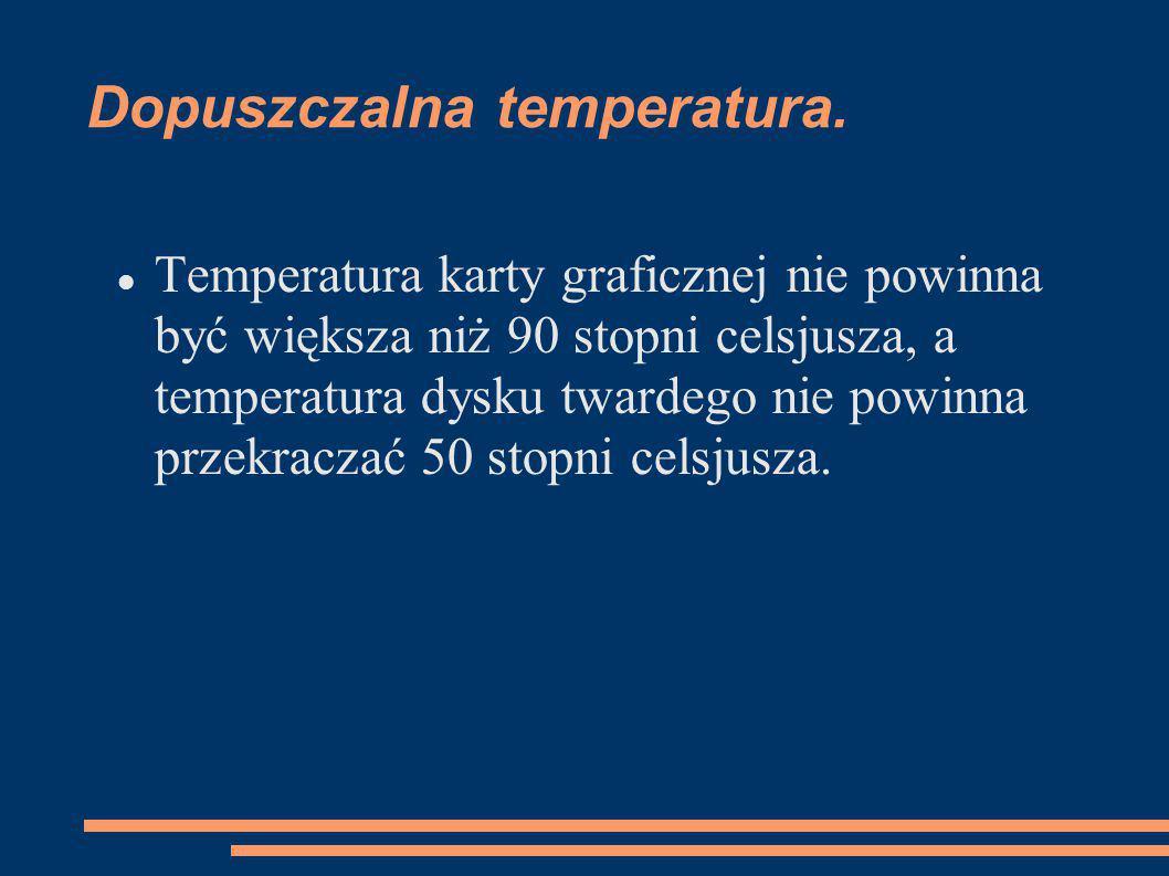 Dopuszczalna temperatura.