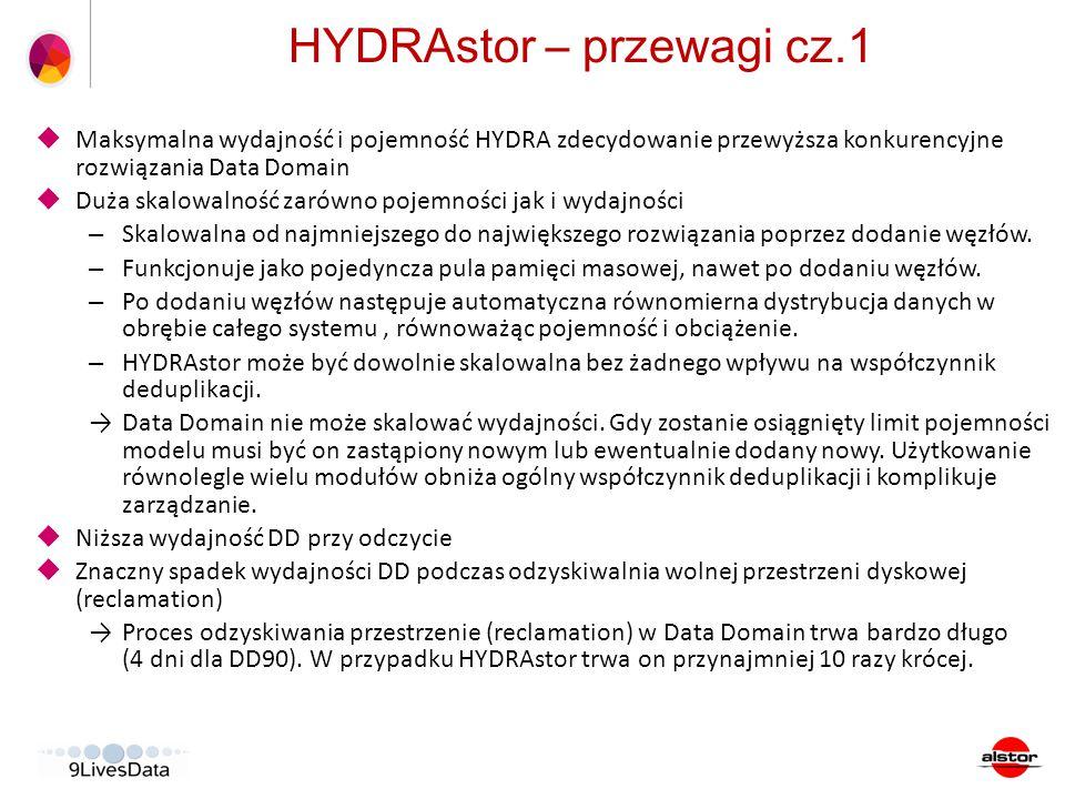 HYDRAstor – przewagi cz.1
