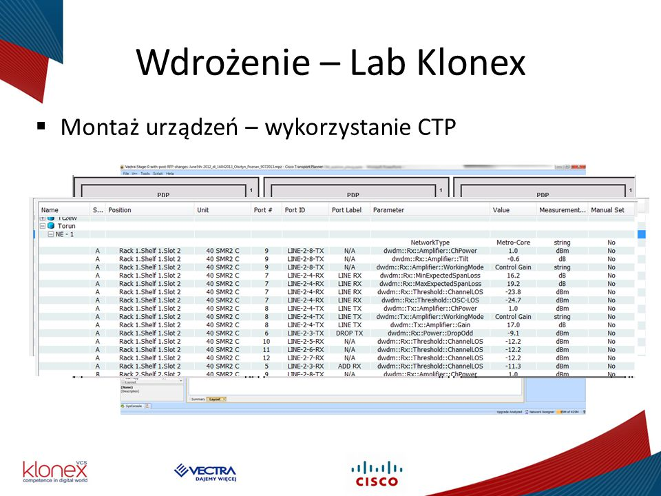 Wdrożenie – Lab Klonex Montaż urządzeń – wykorzystanie CTP