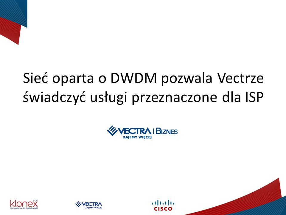 Sieć oparta o DWDM pozwala Vectrze świadczyć usługi przeznaczone dla ISP