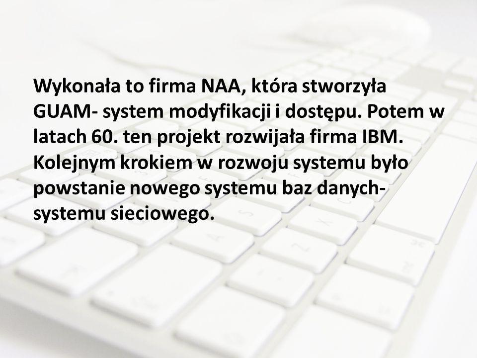 Wykonała to firma NAA, która stworzyła GUAM- system modyfikacji i dostępu.