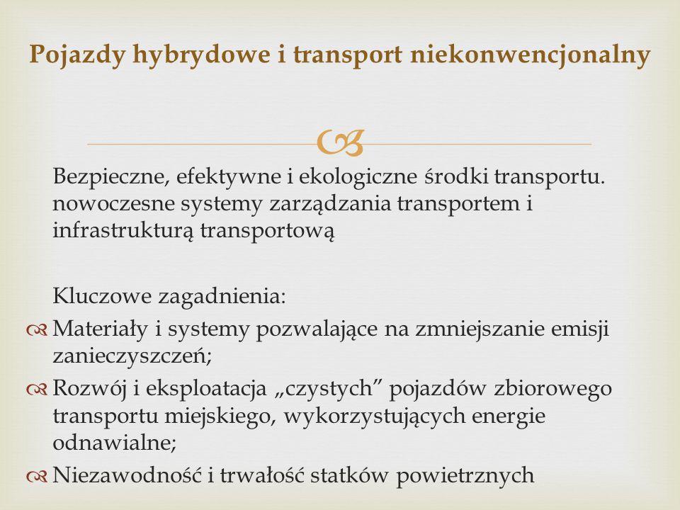 Pojazdy hybrydowe i transport niekonwencjonalny