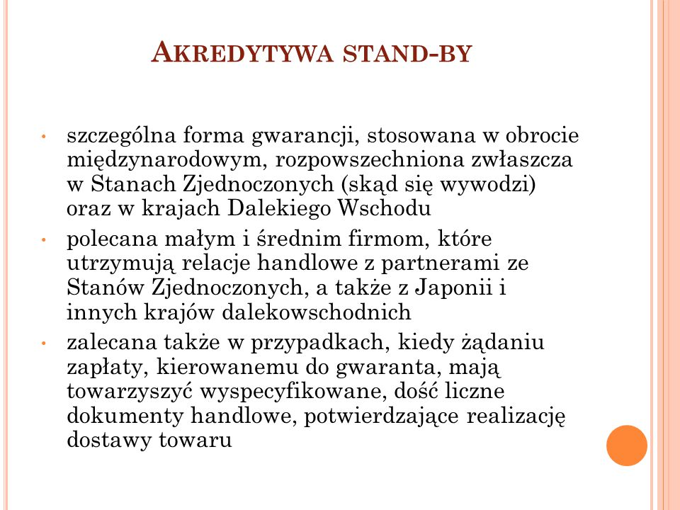 Akredytywa stand-by