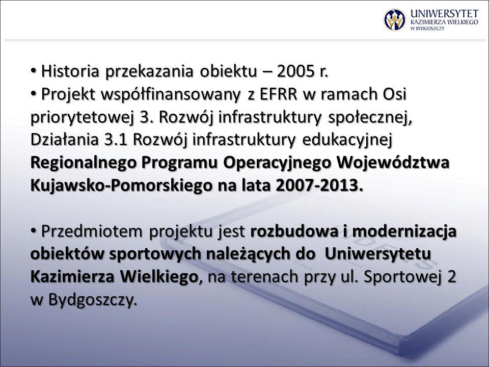 Historia przekazania obiektu – 2005 r.