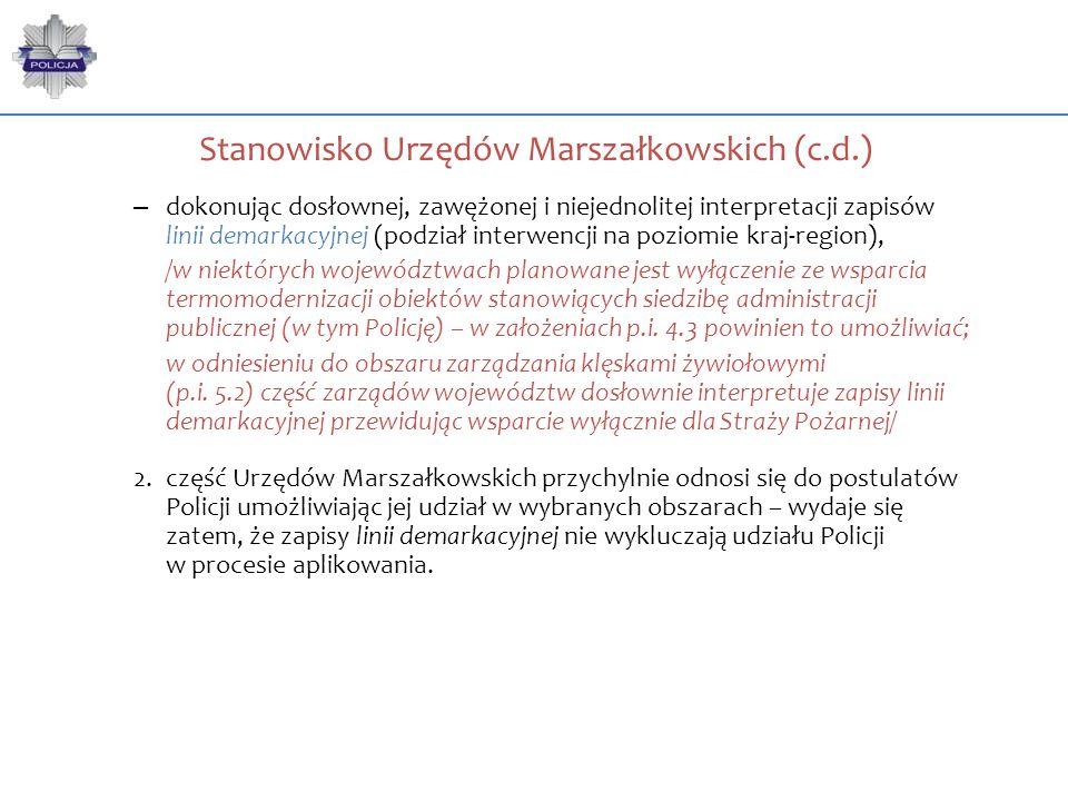 Stanowisko Urzędów Marszałkowskich (c.d.)
