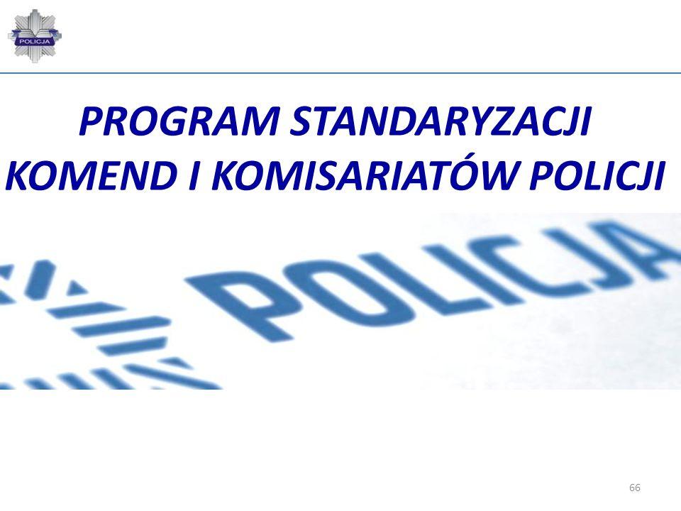 PROGRAM STANDARYZACJI KOMEND I KOMISARIATÓW POLICJI