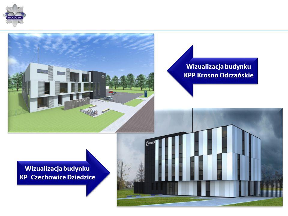 Wizualizacja budynku KPP Krosno Odrzańskie