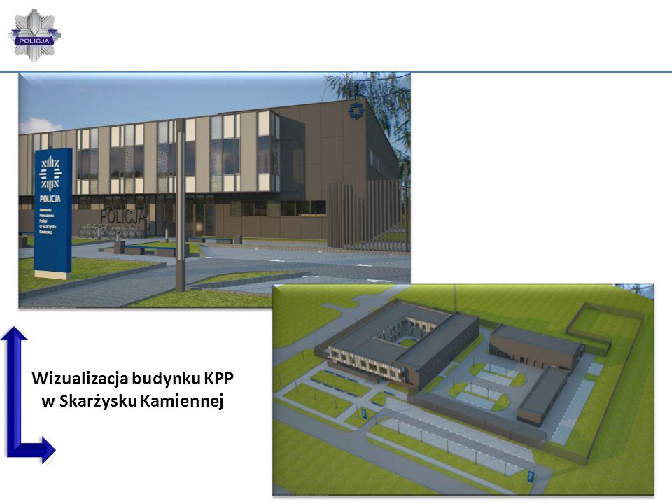 Wizualizacja budynku KPP w Skarżysku Kamiennej