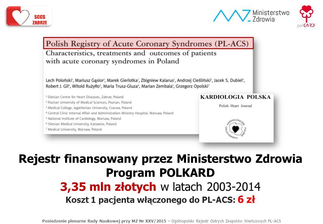 Rejestr finansowany przez Ministerstwo Zdrowia Program POLKARD