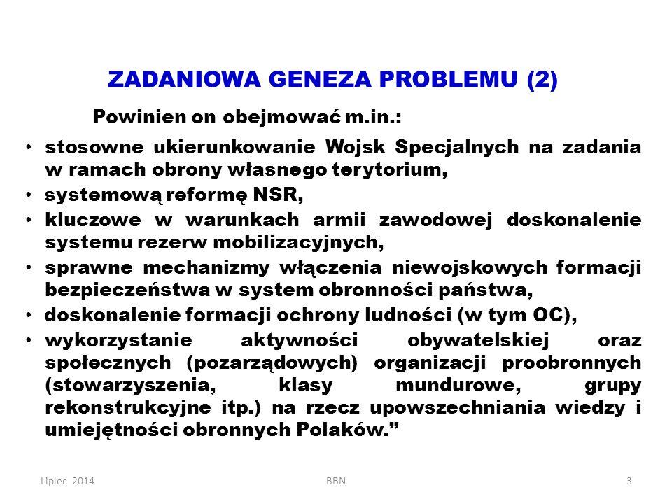 ZADANIOWA GENEZA PROBLEMU (2)
