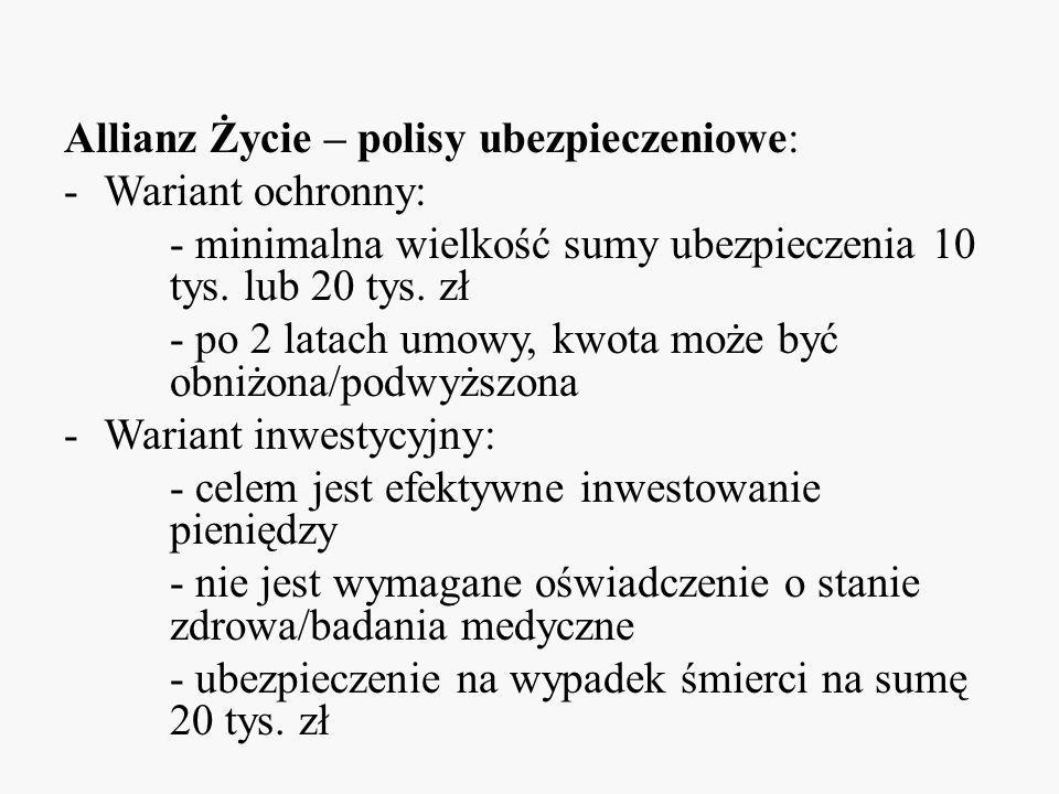 Allianz Życie – polisy ubezpieczeniowe:
