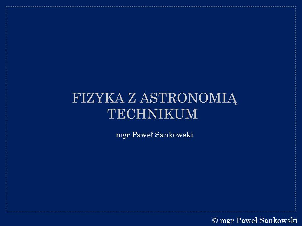Fizyka z astronomią technikum