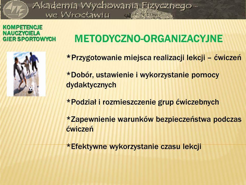 METODYCZNO-ORGANIZACYJNE