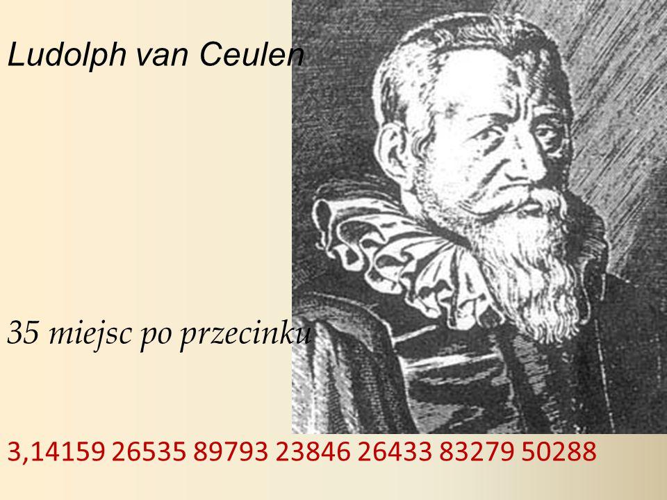 Ludolph van Ceulen 35 miejsc po przecinku