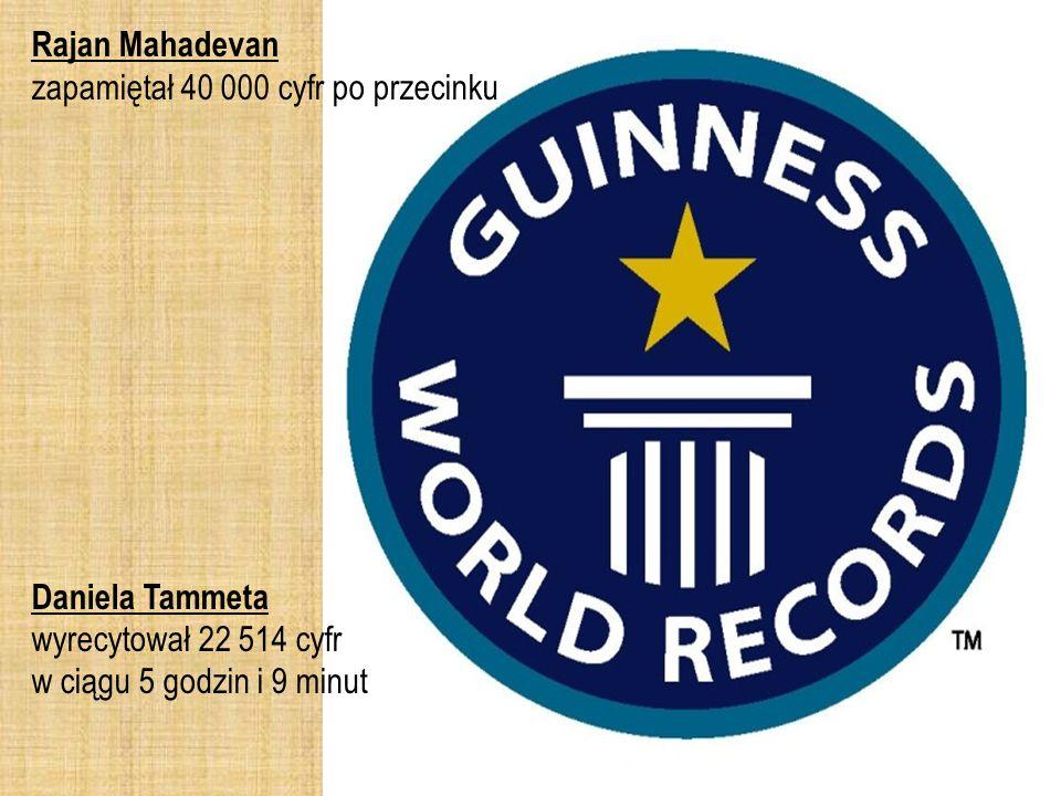 Rajan Mahadevan zapamiętał 40 000 cyfr po przecinku.