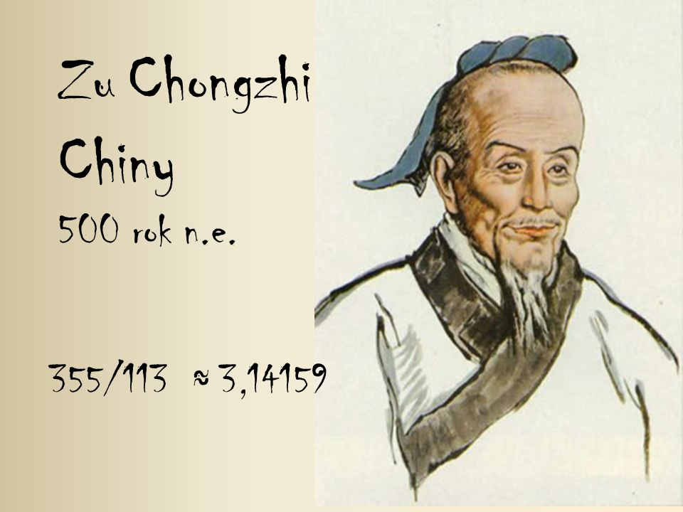 Zu Chongzhi Chiny 500 rok n.e. 355/113 ≈ 3,14159