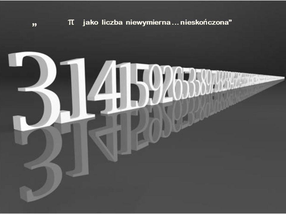 """"""" π jako liczba niewymierna ... nieskończona"""