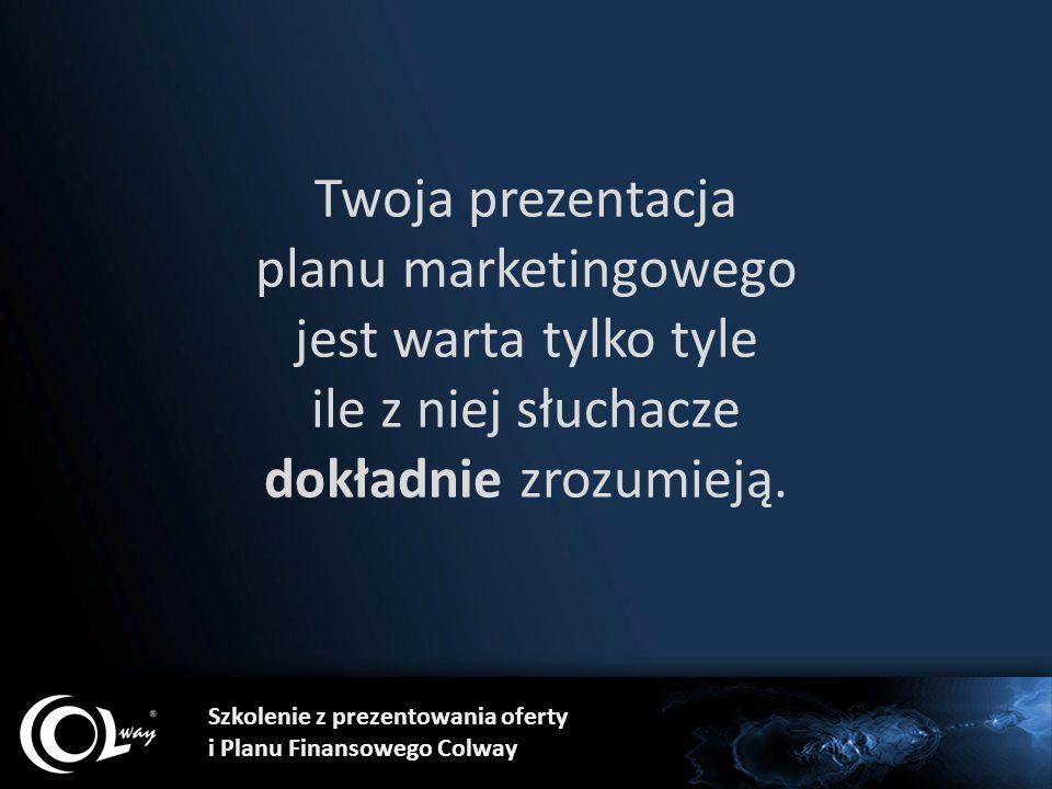 Twoja prezentacja planu marketingowego jest warta tylko tyle ile z niej słuchacze dokładnie zrozumieją.