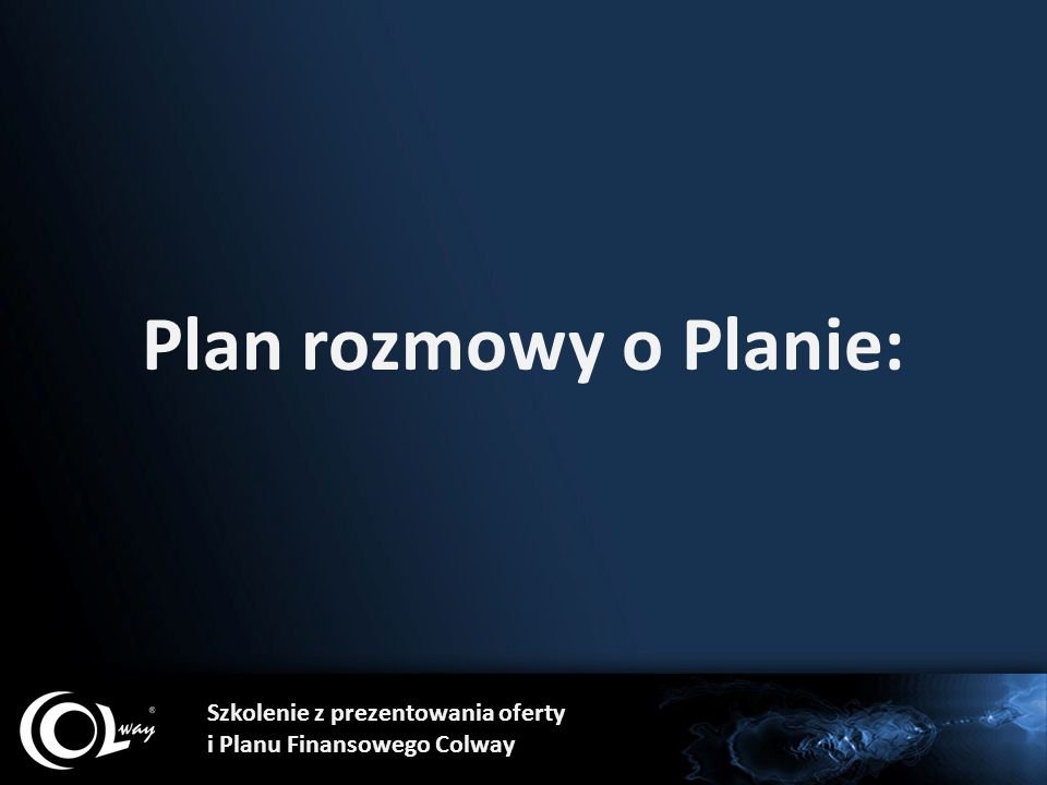 Plan rozmowy o Planie: Szkolenie z prezentowania oferty