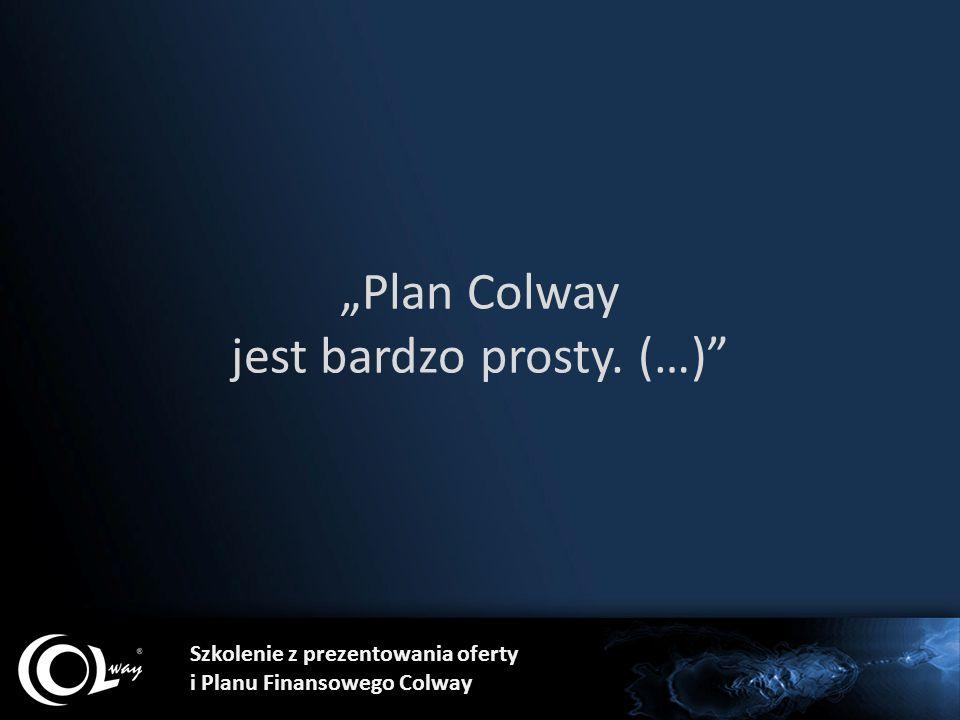 """""""Plan Colway jest bardzo prosty. (…)"""