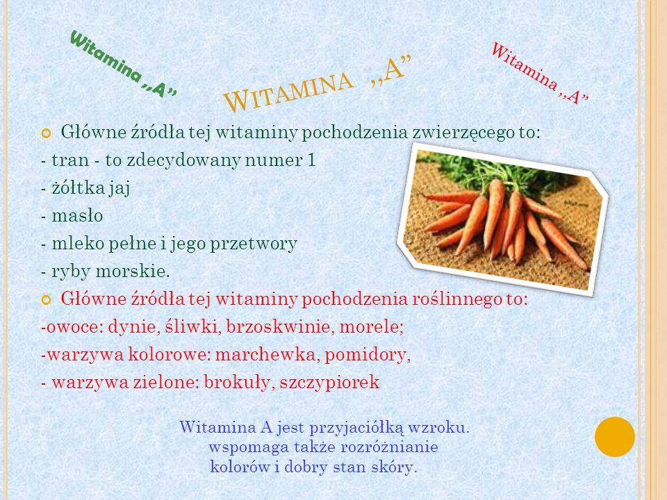 Witamina ,,A'' Witamina ,,A''
