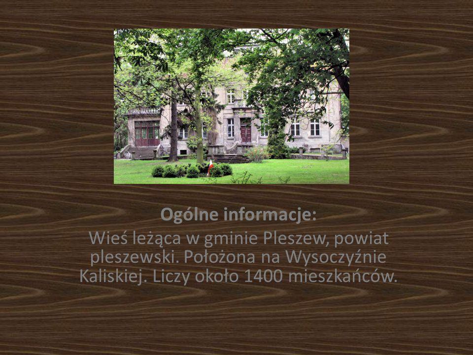 Ogólne informacje: Wieś leżąca w gminie Pleszew, powiat pleszewski.