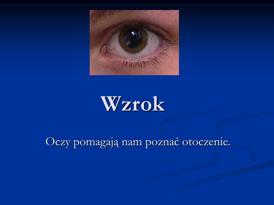 Oczy pomagają nam poznać otoczenie.