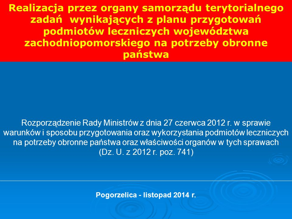 Pogorzelica - listopad 2014 r.