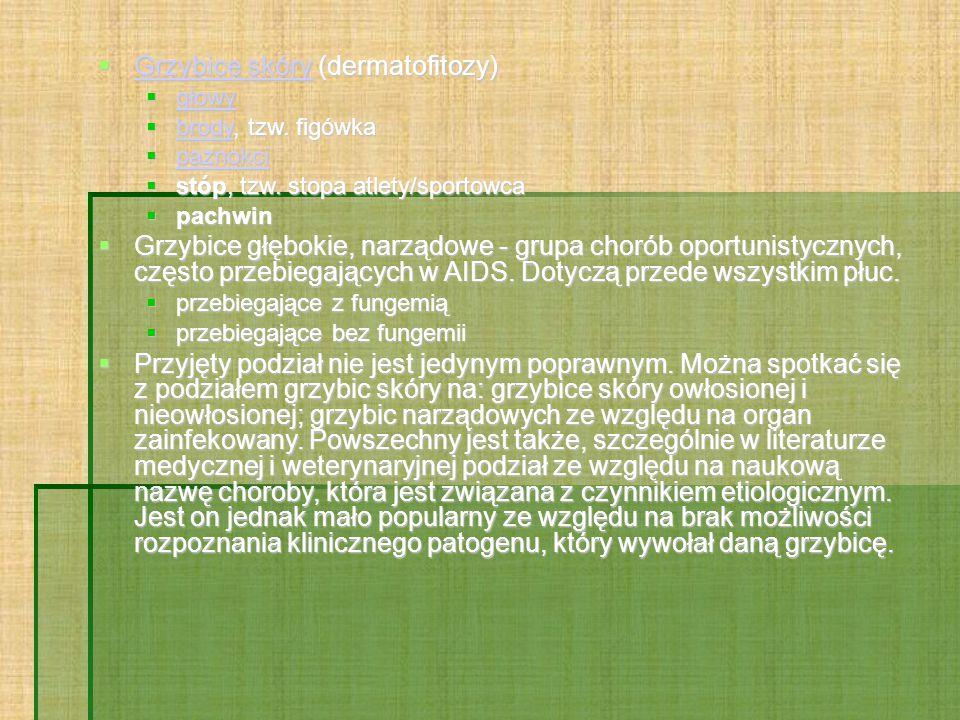 Grzybice skóry (dermatofitozy)
