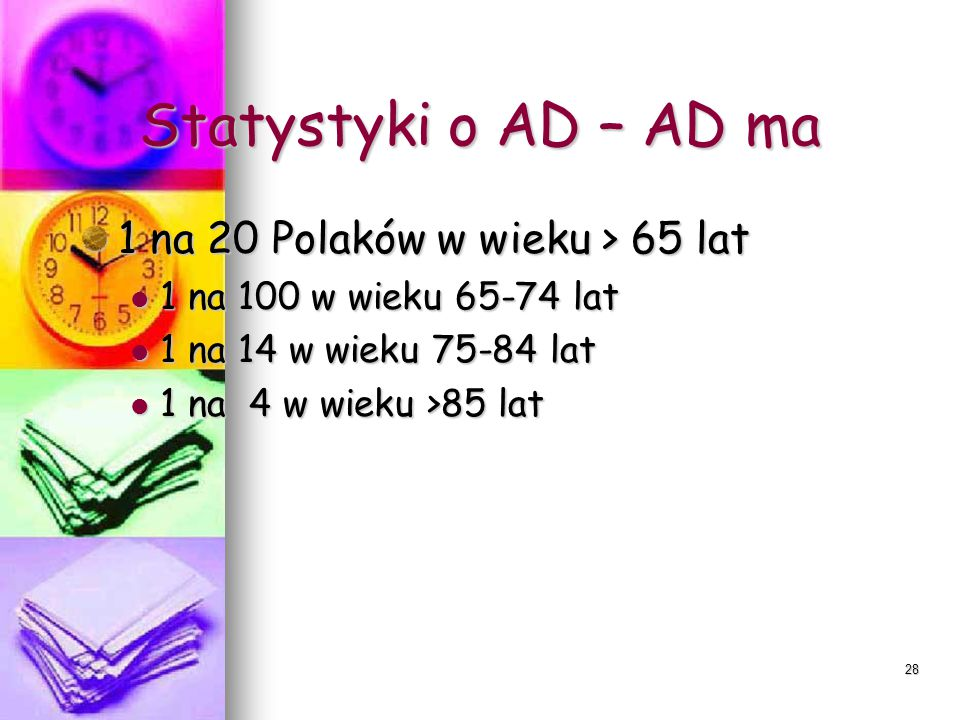 Statystyki o AD – AD ma 1 na 20 Polaków w wieku > 65 lat
