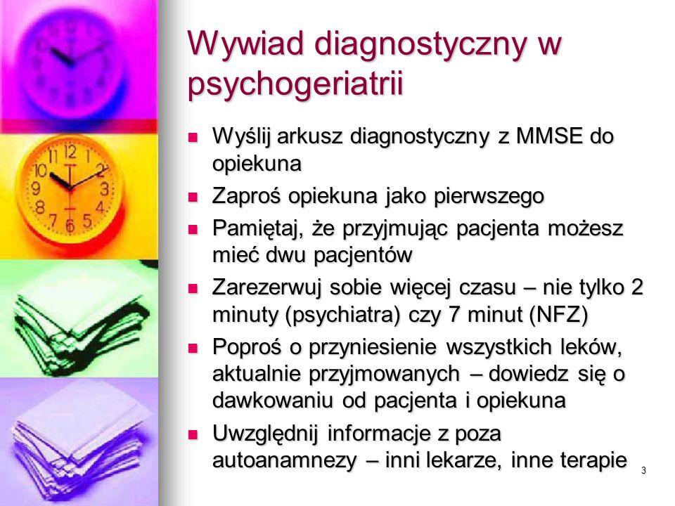 Wywiad diagnostyczny w psychogeriatrii