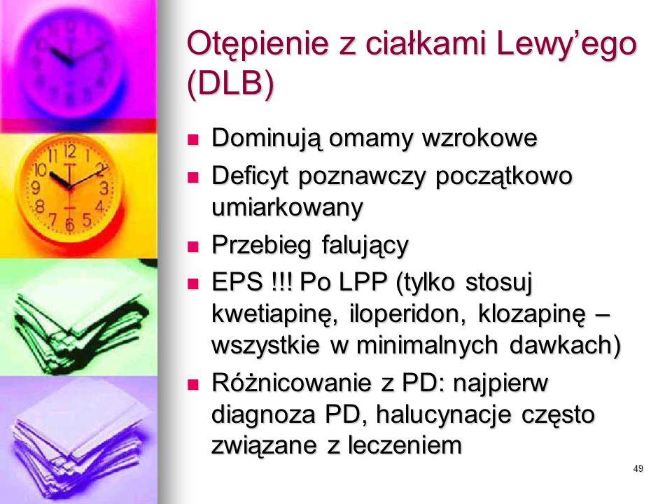 Otępienie z ciałkami Lewy'ego (DLB)