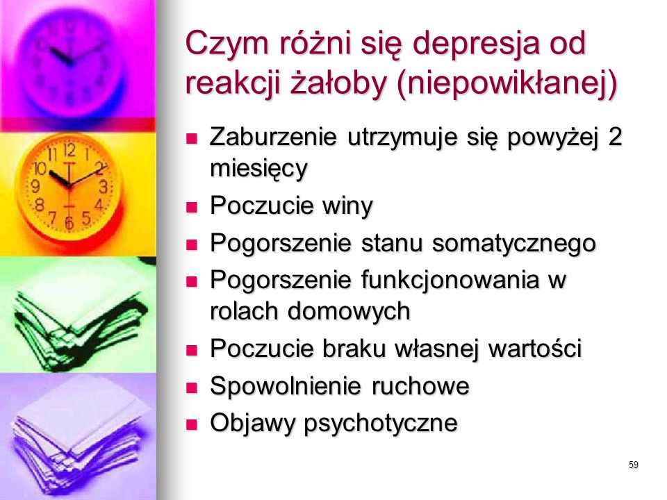 Czym różni się depresja od reakcji żałoby (niepowikłanej)