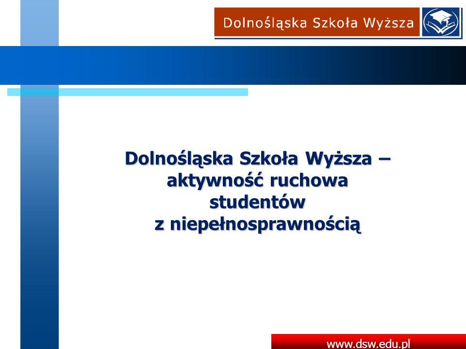 Dolnośląska Szkoła Wyższa – aktywność ruchowa