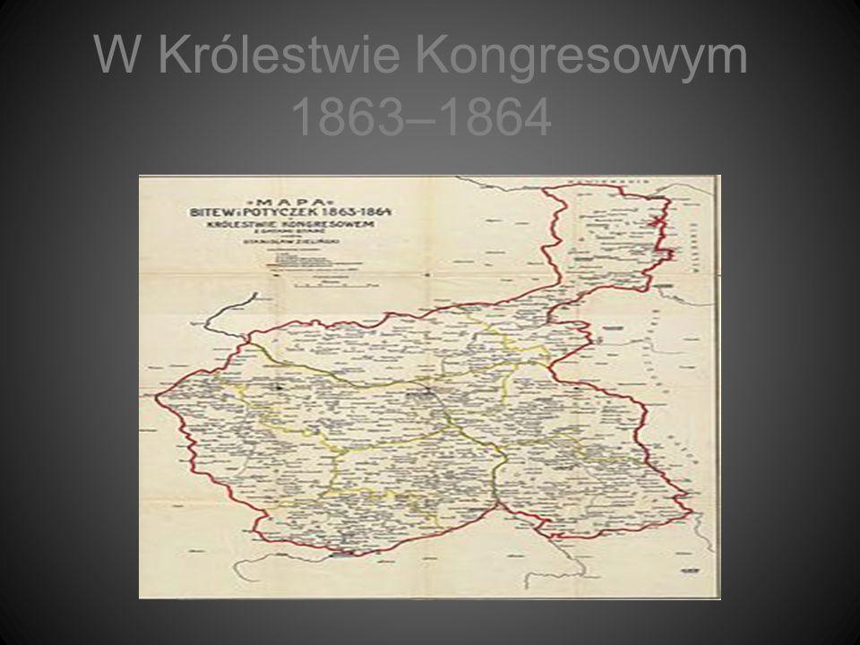 W Królestwie Kongresowym 1863–1864