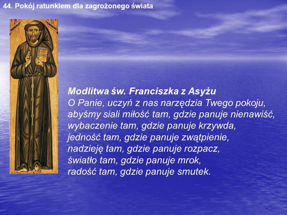 Modlitwa św. Franciszka z Asyżu