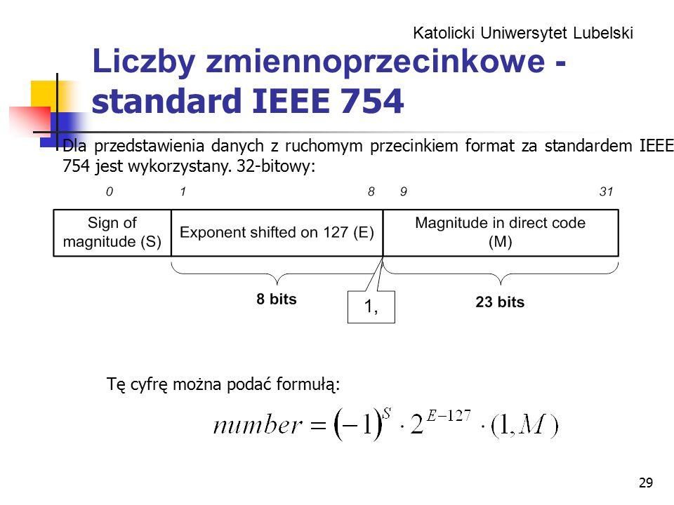 Liczby zmiennoprzecinkowe -standard IEEE 754