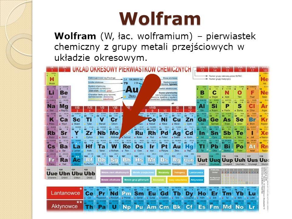 Wolfram Wolfram (W, łac.