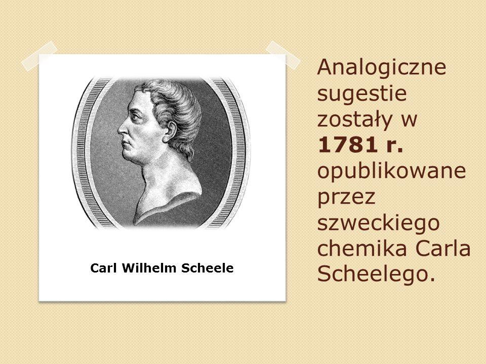 Analogiczne sugestie zostały w 1781 r
