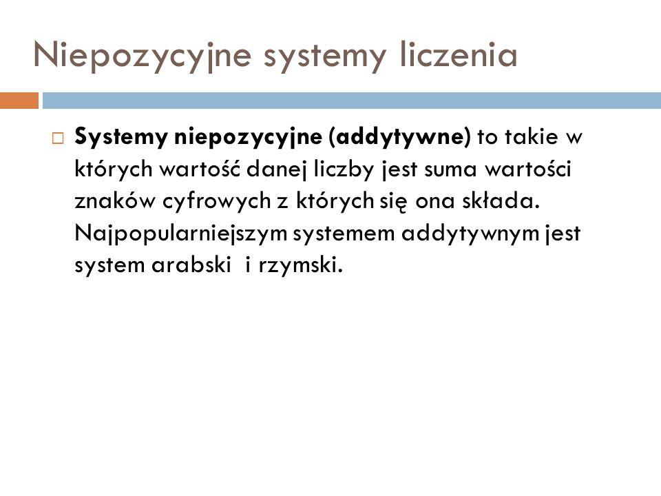 Niepozycyjne systemy liczenia