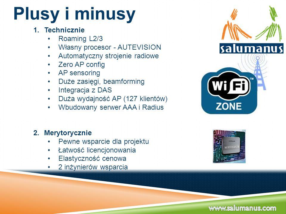 Plusy i minusy www.salumanus.com Technicznie Roaming L2/3