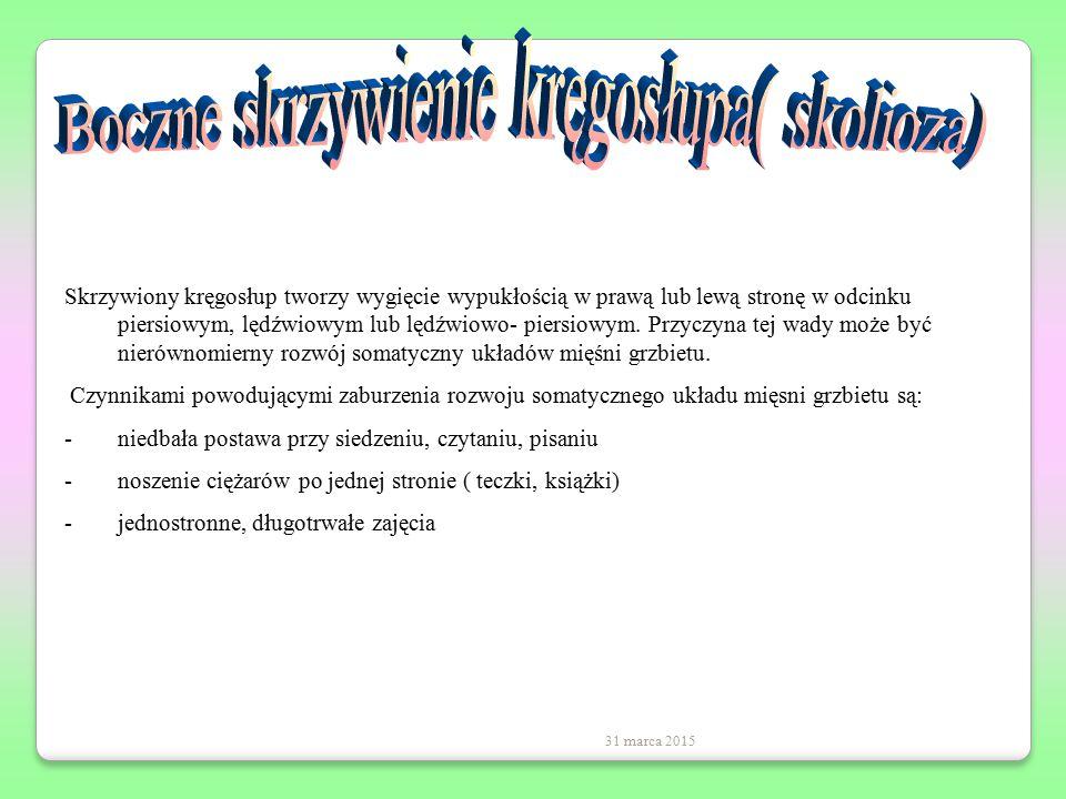 Boczne skrzywienie kręgosłupa( skolioza)