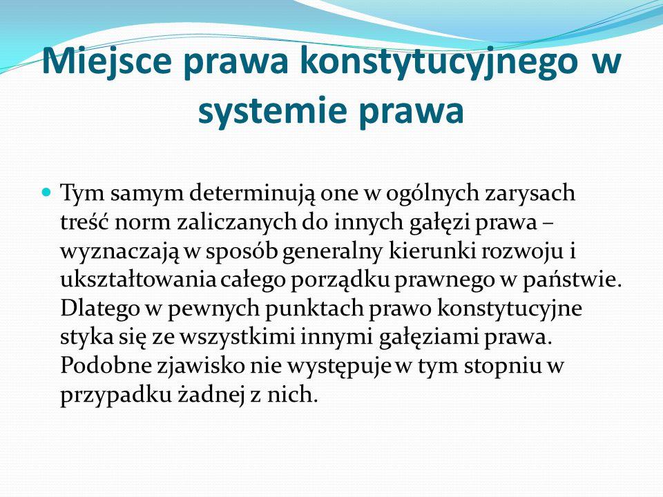 Miejsce prawa konstytucyjnego w systemie prawa