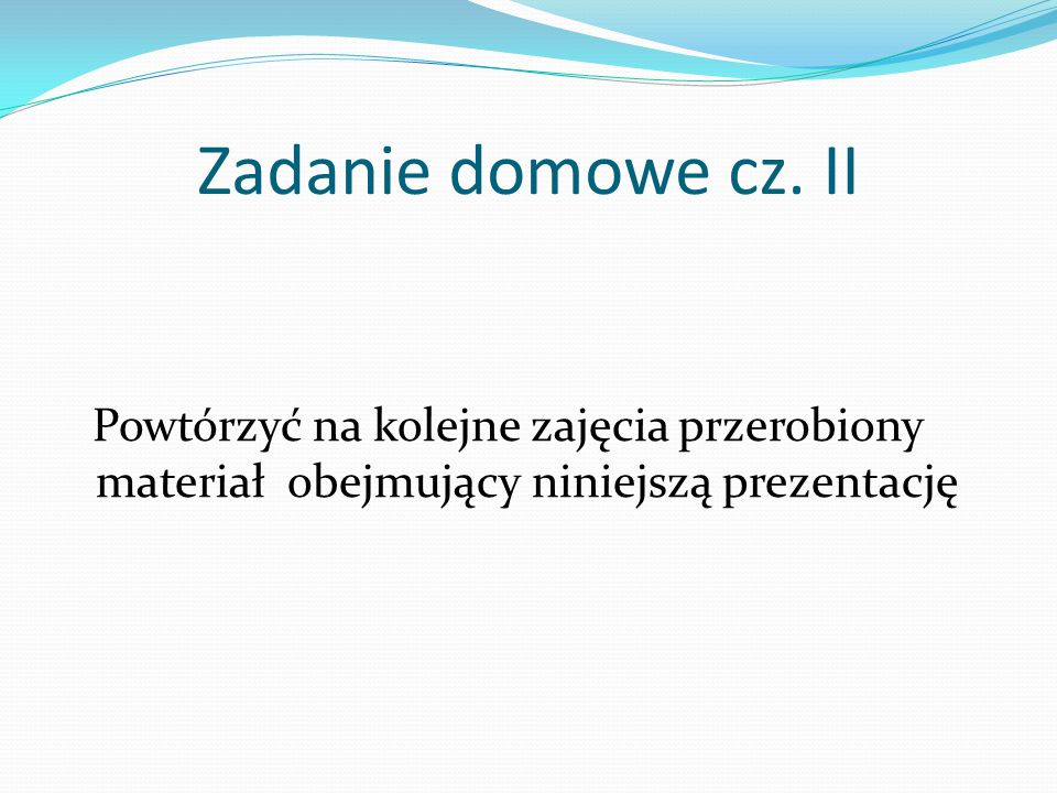 Zadanie domowe cz.