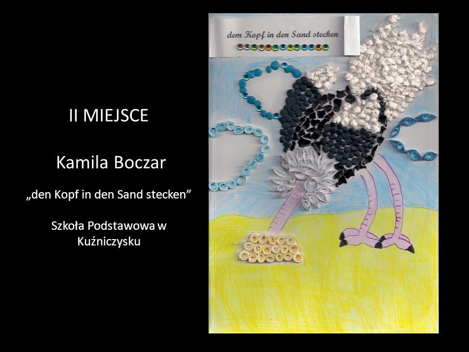 """II MIEJSCE Kamila Boczar """"den Kopf in den Sand stecken Szkoła Podstawowa w Kuźniczysku"""