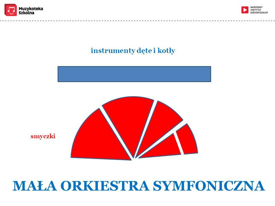 instrumenty dęte i kotły MAŁA ORKIESTRA SYMFONICZNA