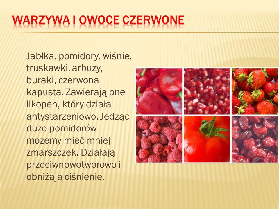 Warzywa i owoce czerwone