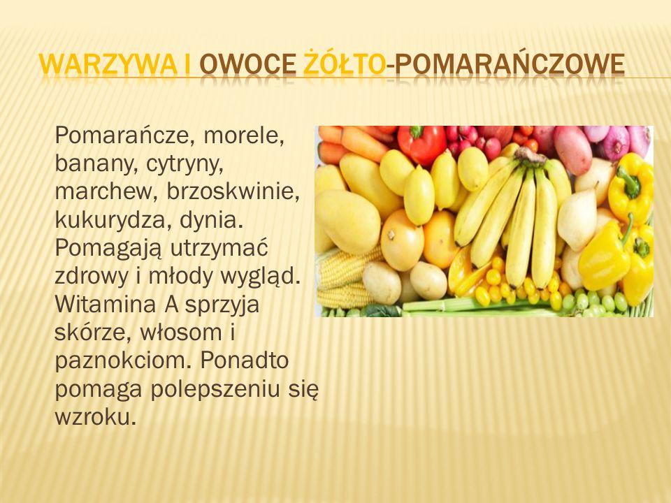 Warzywa i owoce żółto-pomarańczowe