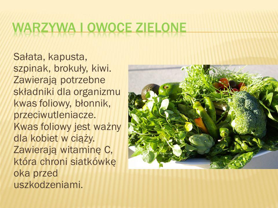 Warzywa i owoce zielone